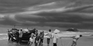 Sebastião Salgado, The beach of Vung Tau, formerly named Cap Saint Jacques, from where the majority of boat people left. Southern Vietnam. 1995 © Sebastião Salgado - Amazonas Images - Contrasto