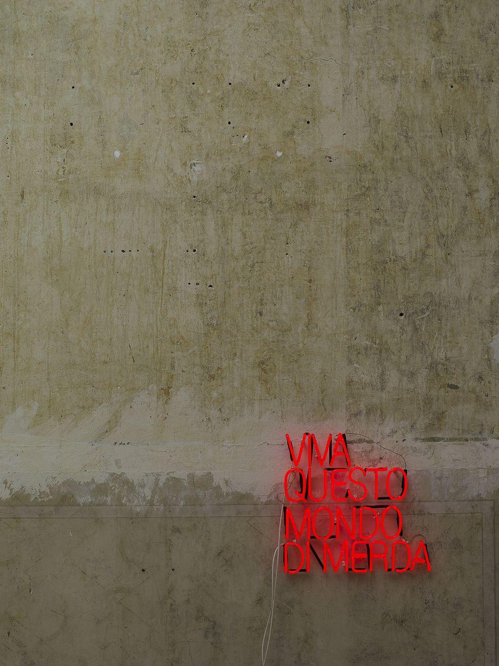 Serena Fineschi, Viva questo mondo di merda, 2012 18. Collezione privata. Installation view at M12 Gallery, Bruxelles. Photo credit Geert De Taeye