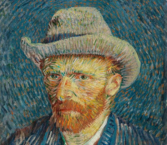 Vincent van Gogh, 'Self Portrait with Grey Felt Hat', 1887, Van Gogh Museum, Amsterdam (Vincent van Gogh Foundation)