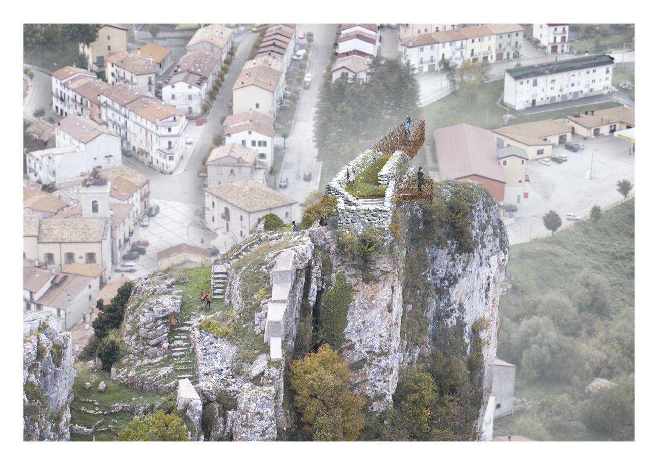 Vista dall'alto. Photo credits Lap_Laboratorio Architettura Partecipata
