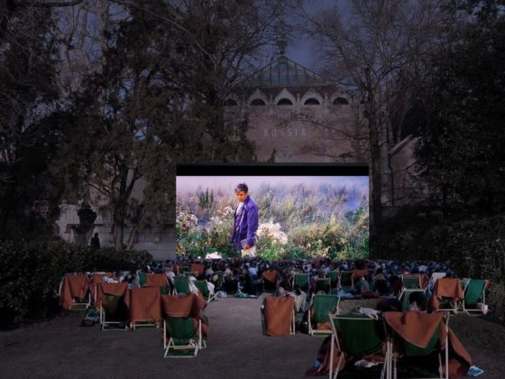 Concept for an open air cinema at the Russian Pavilion © 2050+