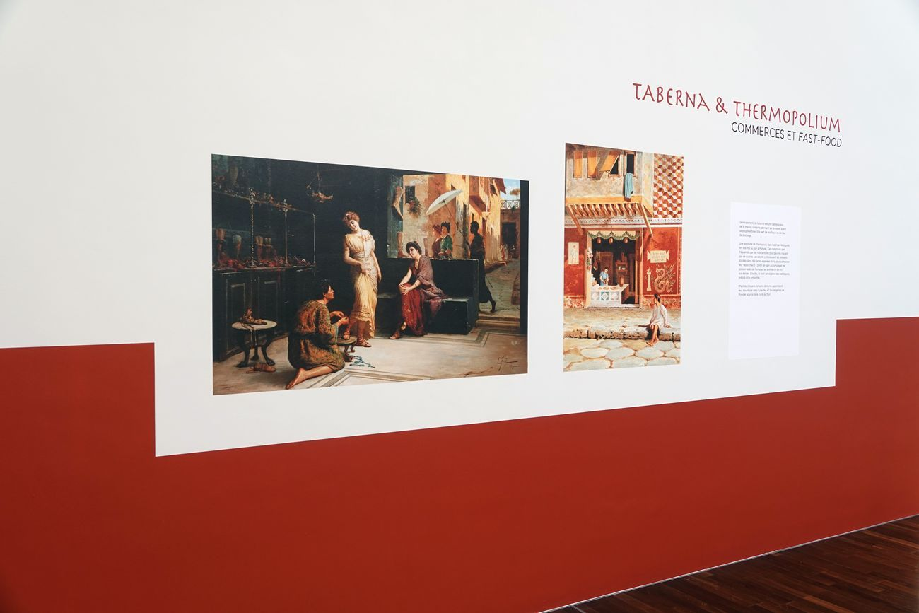 Dernier repas à Pompéi, exhibition view at Musée de l'Homme, Parigi 2020 © MNHN_JC Domenech