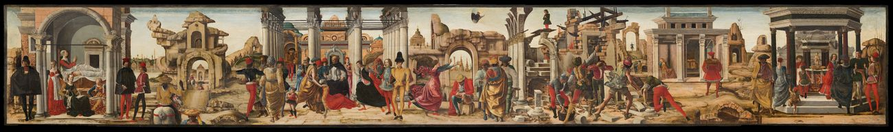 Ercole de' Roberti, Storie di San Vincenzo Ferrer, Pinacoteca Vaticana, Roma