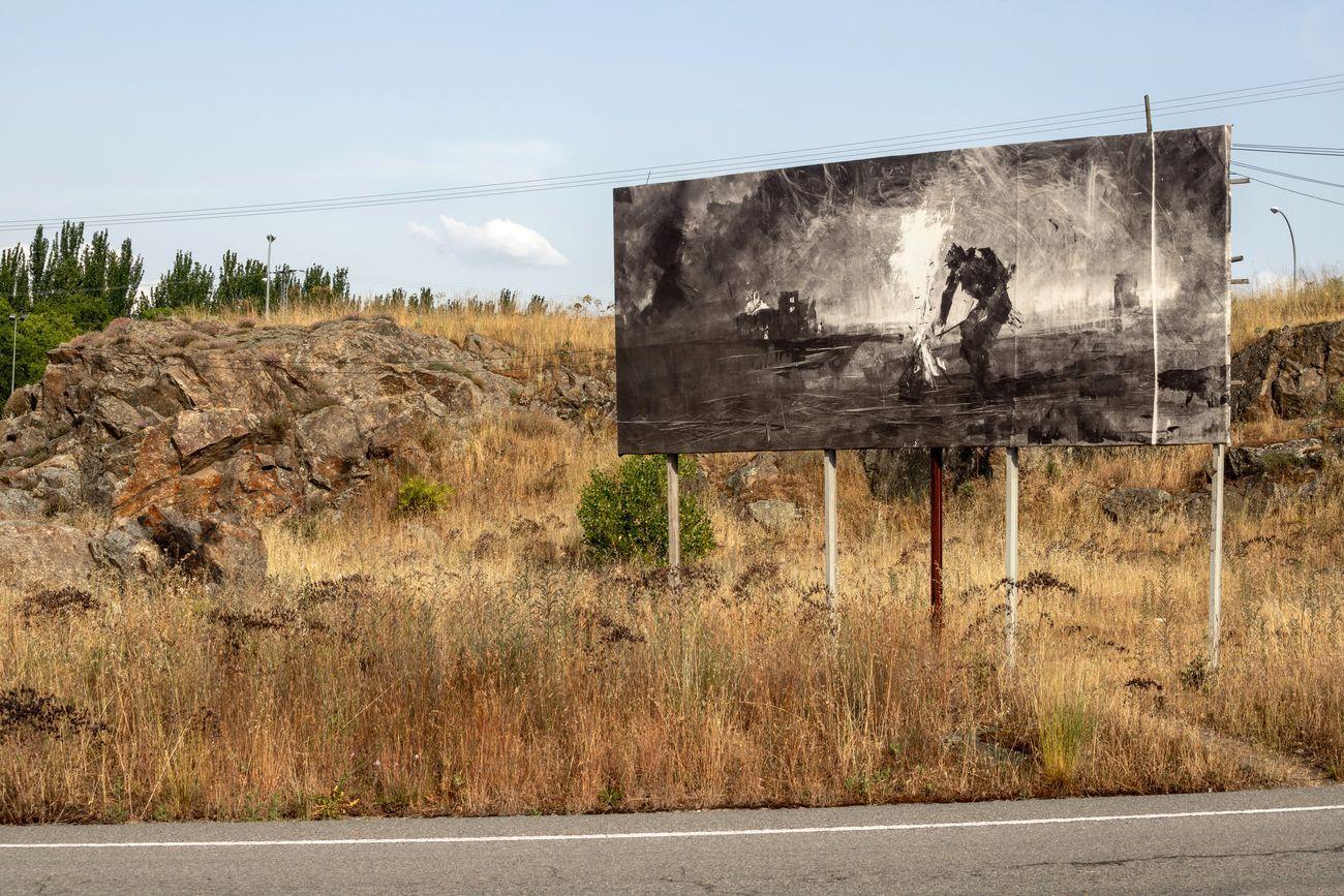 Gonzalo Borondo, Insurrecta, 2020, work in progress. Photo Roberto Conte