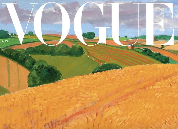 La cover di David Hockney per British Vogue - immagine via www.vogue.co.uk (dettaglio)