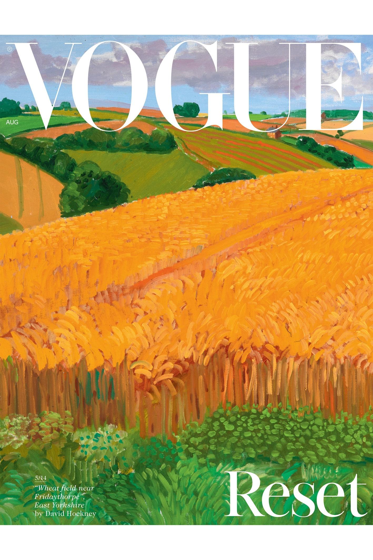 La cover di David Hockney per British Vogue - immagine via www.vogue.co.uk