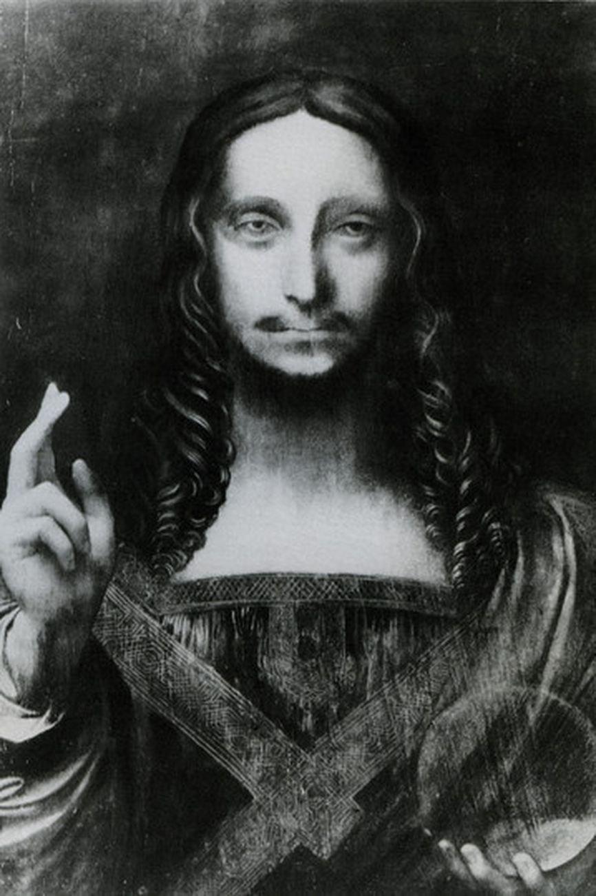 Leonardo da Vinci (?), Salvator Mundi, probabile fotografia del 1912
