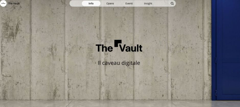 L'homepage di The Vault