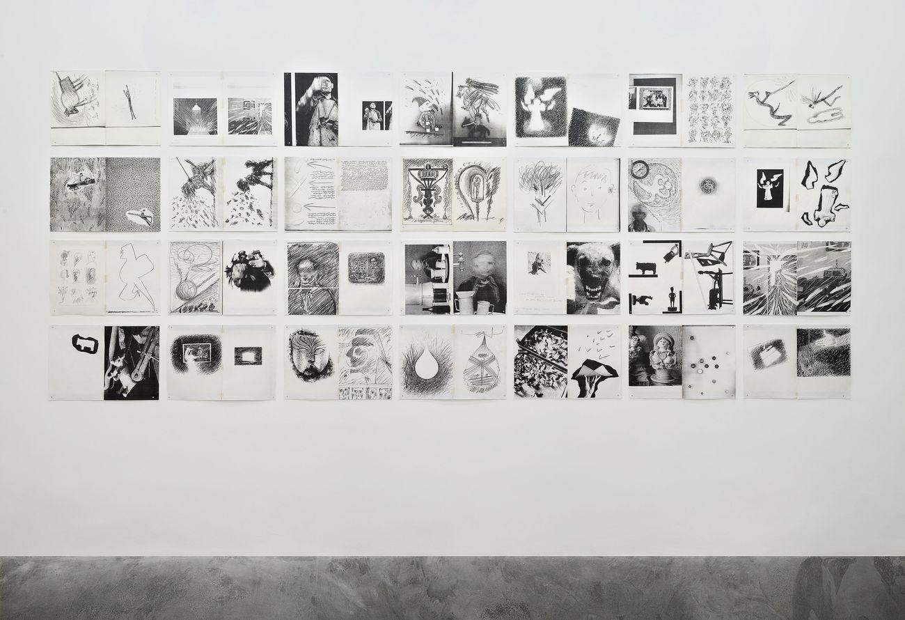 Mario Cresci, Combinazioni provvisorie, Roma 2020, installation view. Courtesy of galleria Matèria and the artist. Photo Roberto Apa