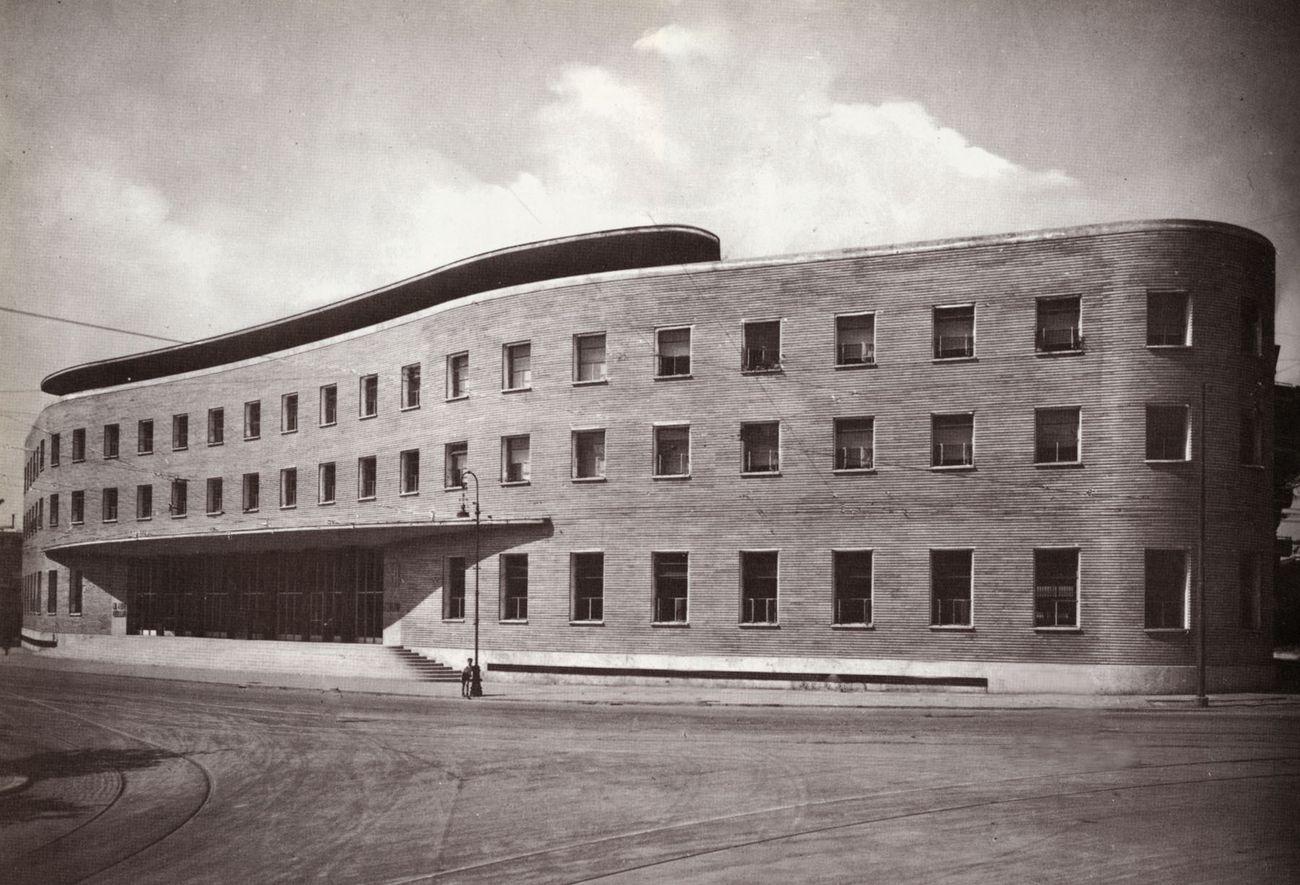 Mario Ridolfi & Mario Fagiolo, Palazzo delle Poste, Piazza Bologna, Roma, 1933 35