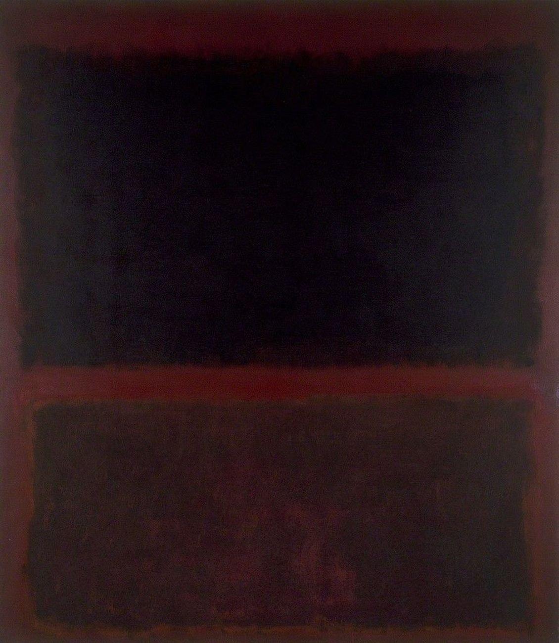 Mark Rothko, Black on Dark Sienna on Purple, 1960. MOCA, Los Angeles © 2012 Artists Rights Society (ARS), New York