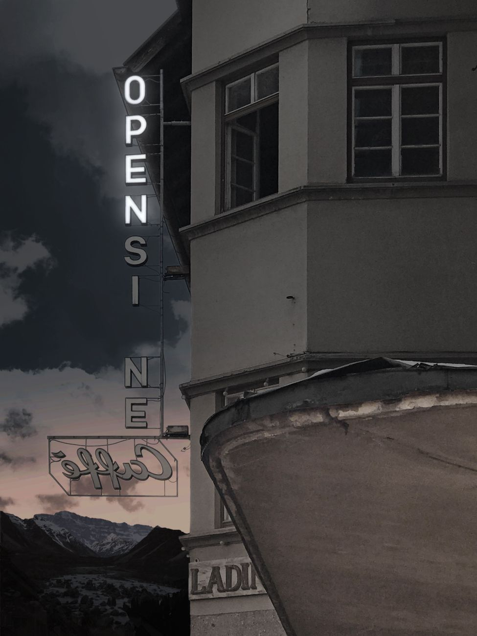 Pavel Büchler, OPEN (Rendering for Biennale Gherdëina 7), 2020