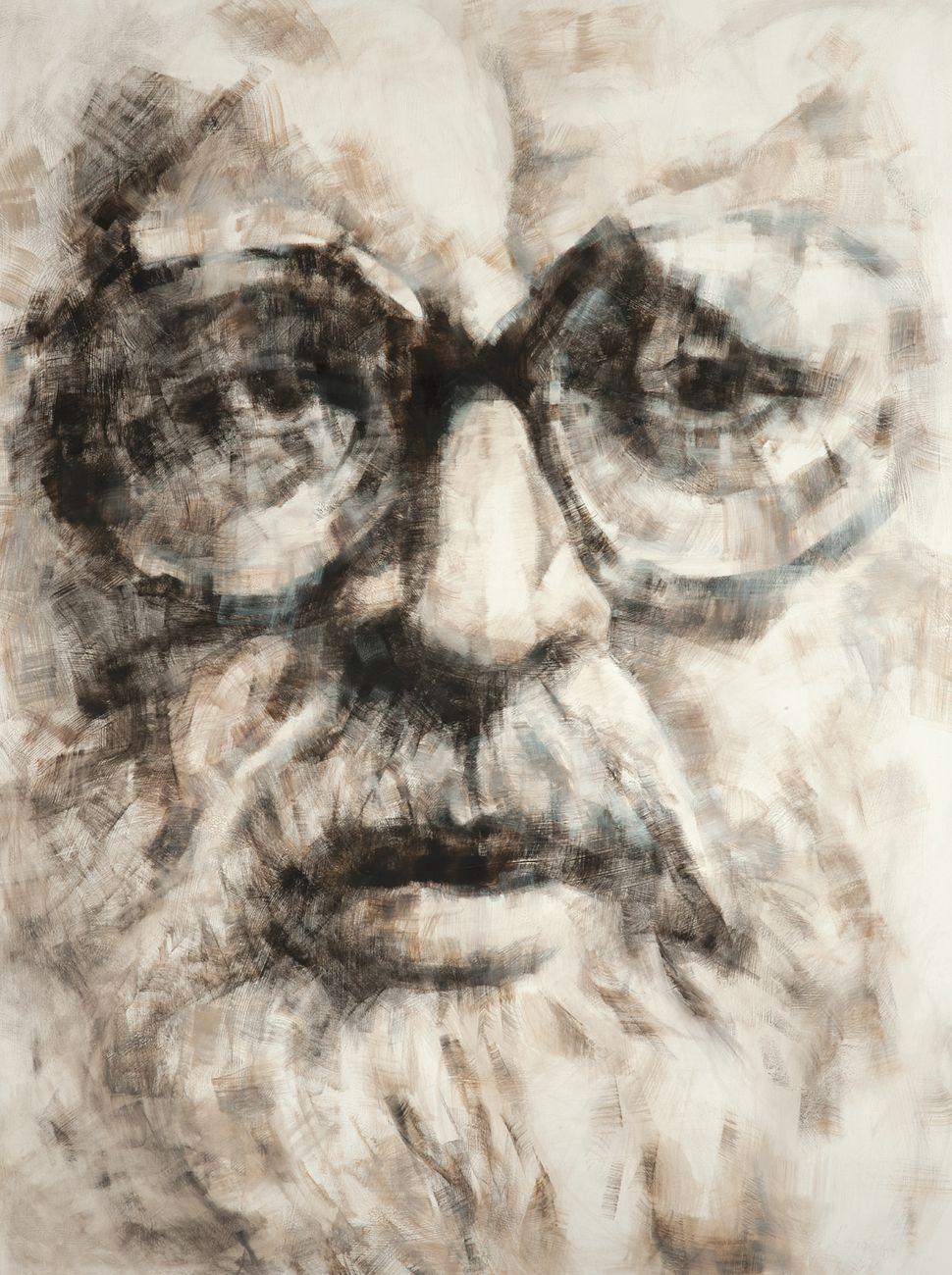 Ritratto di Sergio Leone dipinto dalla figlia Francesca