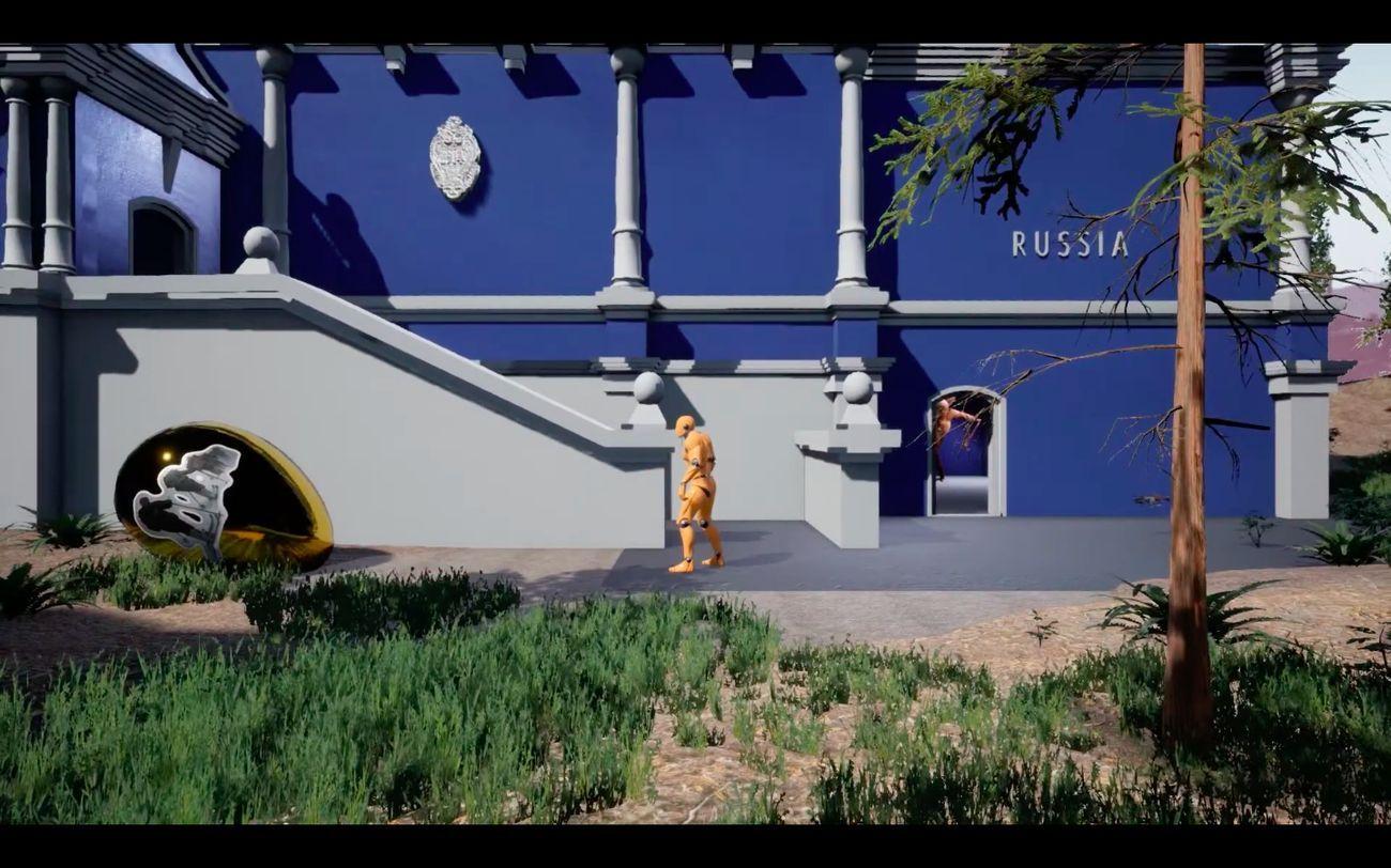 Screenshot dalla versione mock up del gioco di Maximov