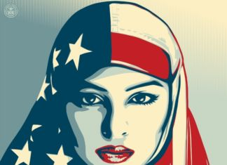 Shepard Fairey, We the people - Greater than fear, 2017, Collezione Pinto - dettaglio
