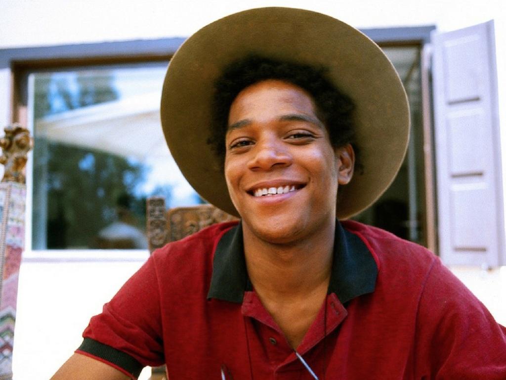 Un giovanissimo Jean Michel Basquiat. Photo Lee Jaffe