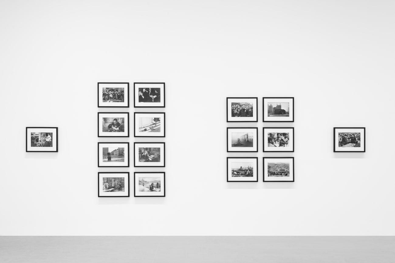 "Works by Henri Cartier-Bresson. © Fondation Henri Cartier-Bresson / Magnum Photos. Installation view ""Henri Cartier-Bresson. Le Grand Jeu"" at Palazzo Grassi, 2020. © Palazzo Grassi, photography Marco Cappelleti"