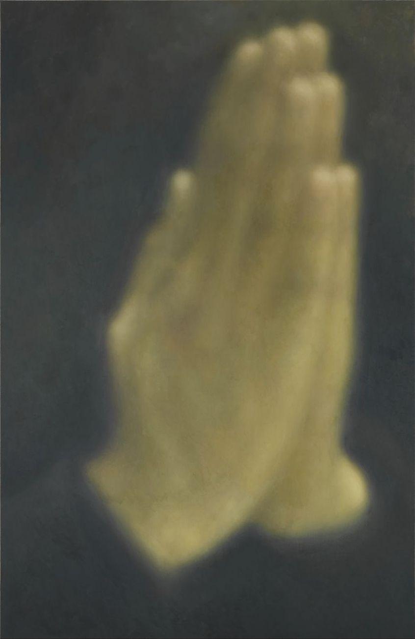 Y.Z. Kami, Untitled (Hands) I, 2013. Oil on linen, cm 274.3 x 182.9 © Y.Z. Kami. Photo Rob McKeever. Courtesy Gagosian