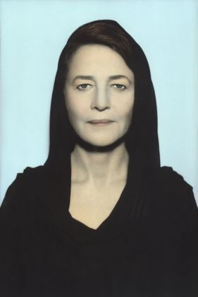 Youssef Nabil, Charlotte Rampling, Paris 2011. Hand colored gelatin silver print. Courtesy of the Artist and Nathalie Obadia Gallery, Paris/Brussels