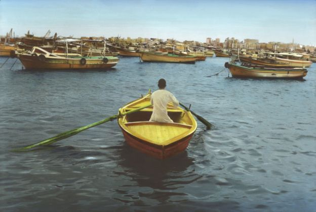 Youssef Nabil, Say Goodbye, Self Portrait, Alexandria 2009. Hand colored gelatin silver print. Courtesy of the Artist. Pinault Collection