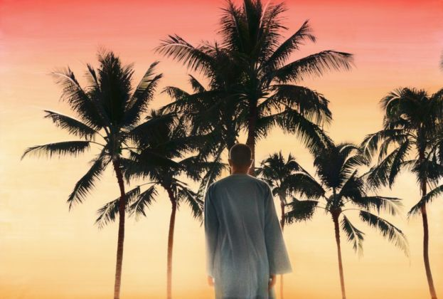 Youssef Nabil, Self Portrait, Hawaii 2013. Hand colored gelatin silver print. Courtesy of the Artist. Pinault Collection