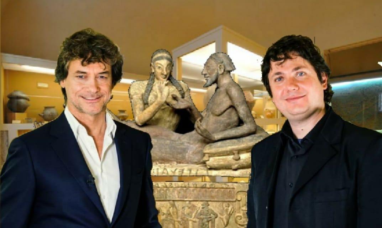 Alberto Angela e Valentino Nizzo al Museo Civico Etrusco di Bugliano