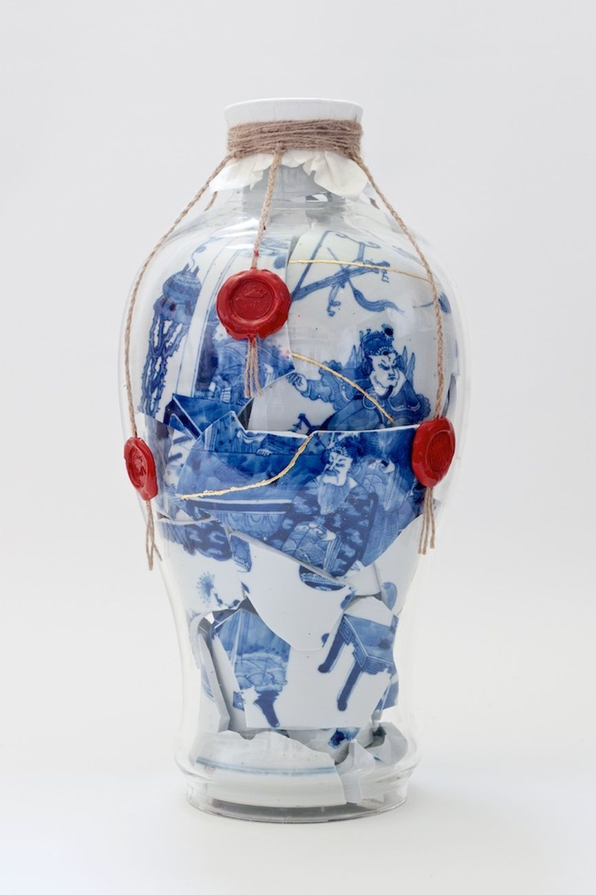 Bouke de Vries, Memory vessel with wax seals, 2020