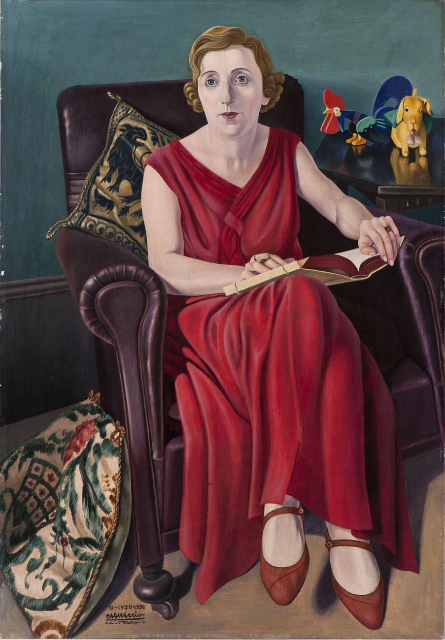 Cagnaccio di San Pietro, Ritratto della signora Wighi, 1930-36. Mart, Museo di arte moderna e contemporanea di Trento e Rovereto - Collezione VAF-Stiftung
