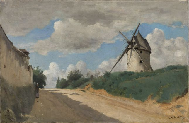 Camille Corot, The Windmill, c. 1835-40 Oil on canvas, 25 x 39.5 cm © Ordrupgaard, Copenhagen. Photo: Anders Sune Berg Exhibition organised by Ordrupgaard, Copenhagen and the Royal Academy of Arts