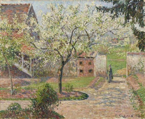 Camille Pissarro, Plum Trees in Blossom, Éragny, 1894 Oil on canvas, 60 x 73 cm © Ordrupgaard, Copenhagen. Photo: Anders Sune Berg Exhibition organised by Ordrupgaard, Copenhagen and the Royal Academy of Arts