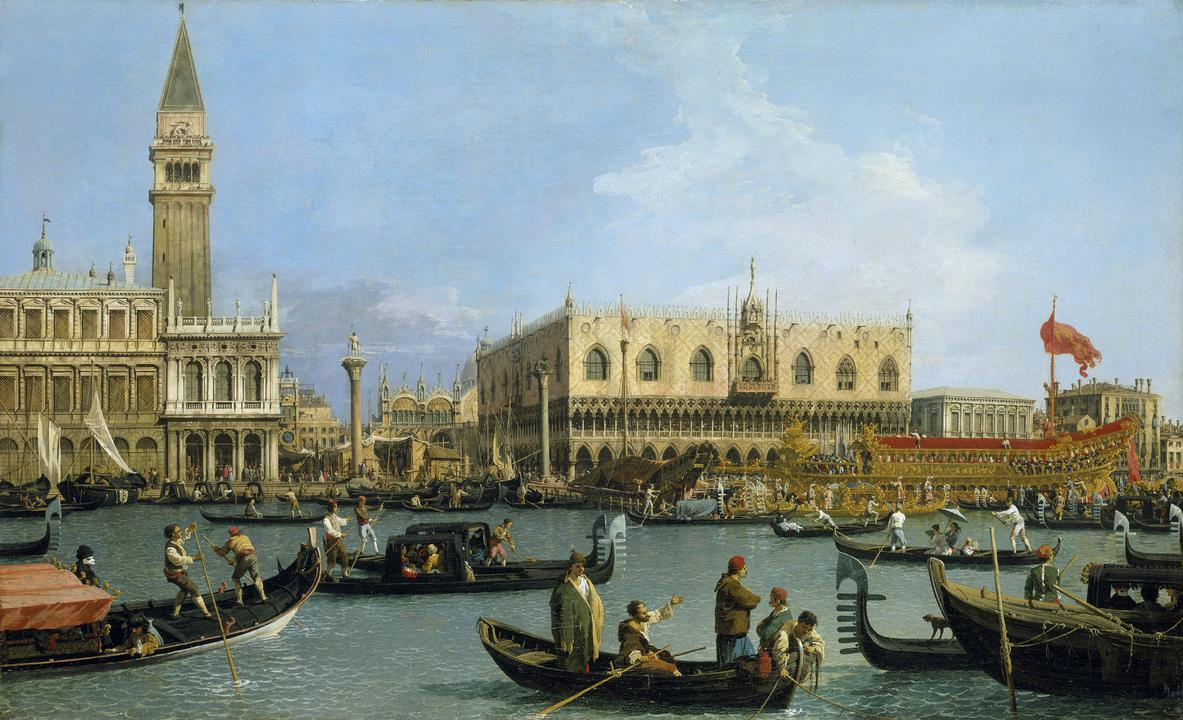 Canaletto, The Bacino di San Marco on Ascension Day, c.1733–4 Trust © Her Majesty Queen Elizabeth II 2020