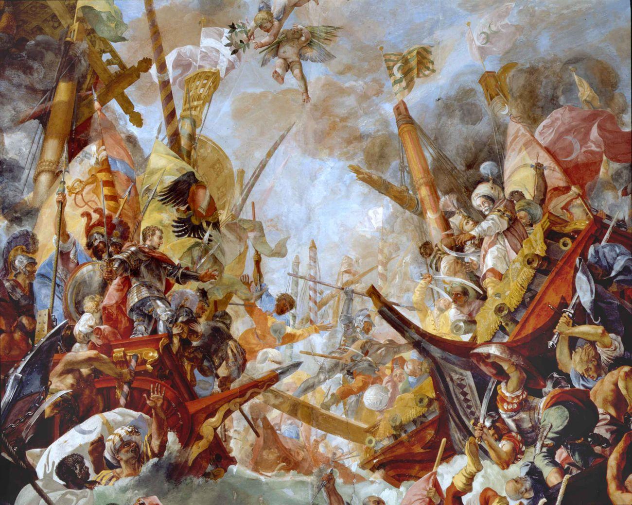 Dettaglio degli affreschi della Galleria. Palazzo Colonna, Roma