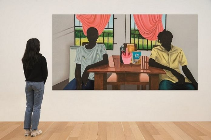 Eniwaye, Diptych the Breakfast Courtesy the artist and Destinee Ross Stutton 2020