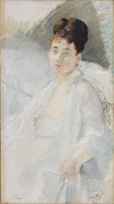 Eva Gonzalès, The Convalescent. Portrait of a Woman in White, 1877-78 Oil and charcoal on canvas, 86 x 47.5 cm © Ordrupgaard, Copenhagen. Photo: Anders Sune Berg Exhibition organised by Ordrupgaard, Copenhagen and the Royal Academy of Arts