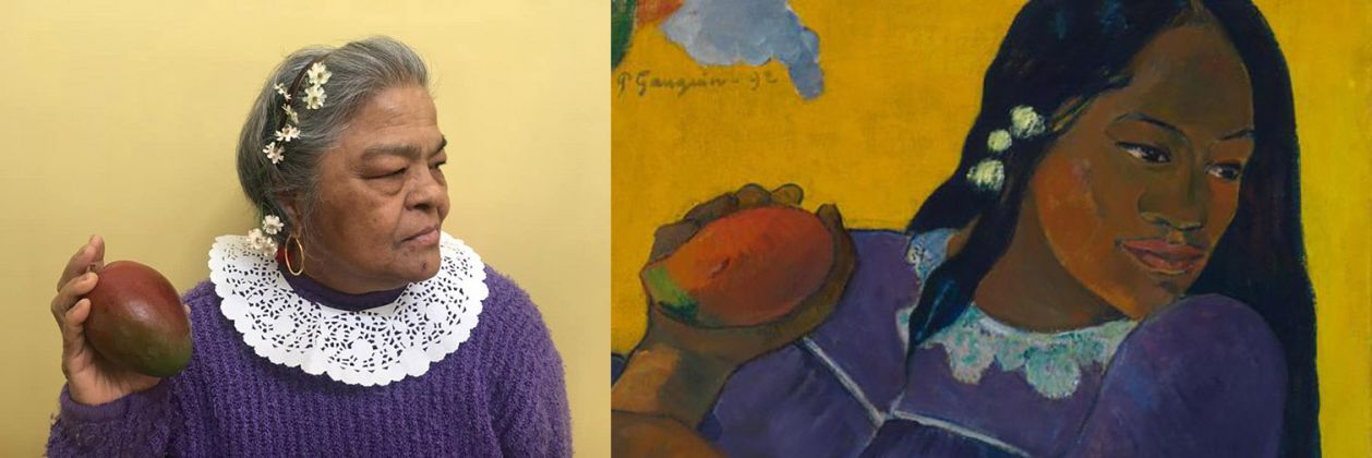 Paul Gauguin, Woman of the Mango (detail), 1892; Re-creation: Florence Grewal