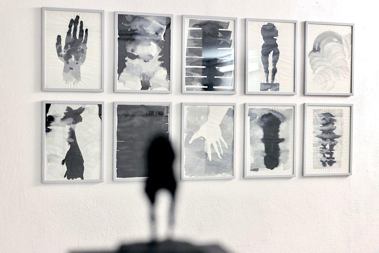 Federico Branchetti, Corpo, acqua e nebbia, 2019, china su carta, 30x40 cm. Photo Clayton Silva. Courtesy of the artist