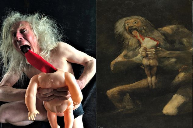 Francisco de Goya y Lucientes, Saturn Devouring His Son, ca. 1820–23; Re-creation: Mark Butterfield / Photography by Cleo Butterfield