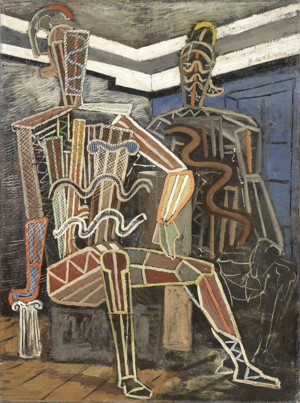 Giorgio de Chirico, Manichini guerrieri (Archeologi), 1926, olio su tela, cm 81,3x60
