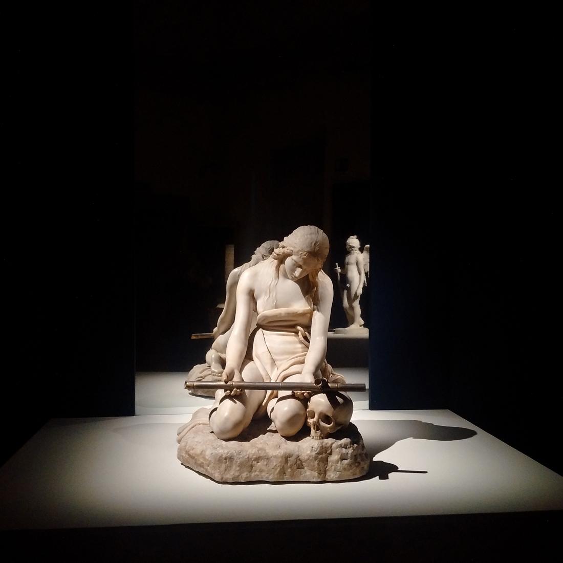 """Maddalena Penitente. Illuminazione della mostra """"Canova – Eterna bellezza"""". Photo Studio Quintiliani"""