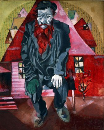 Marc Chagall, L'ebreo rosso (l'ebreo in rosa) 1914 15, San Pietroburgo, Museo Statale Russo © Chagall ®, by SIAE 2020