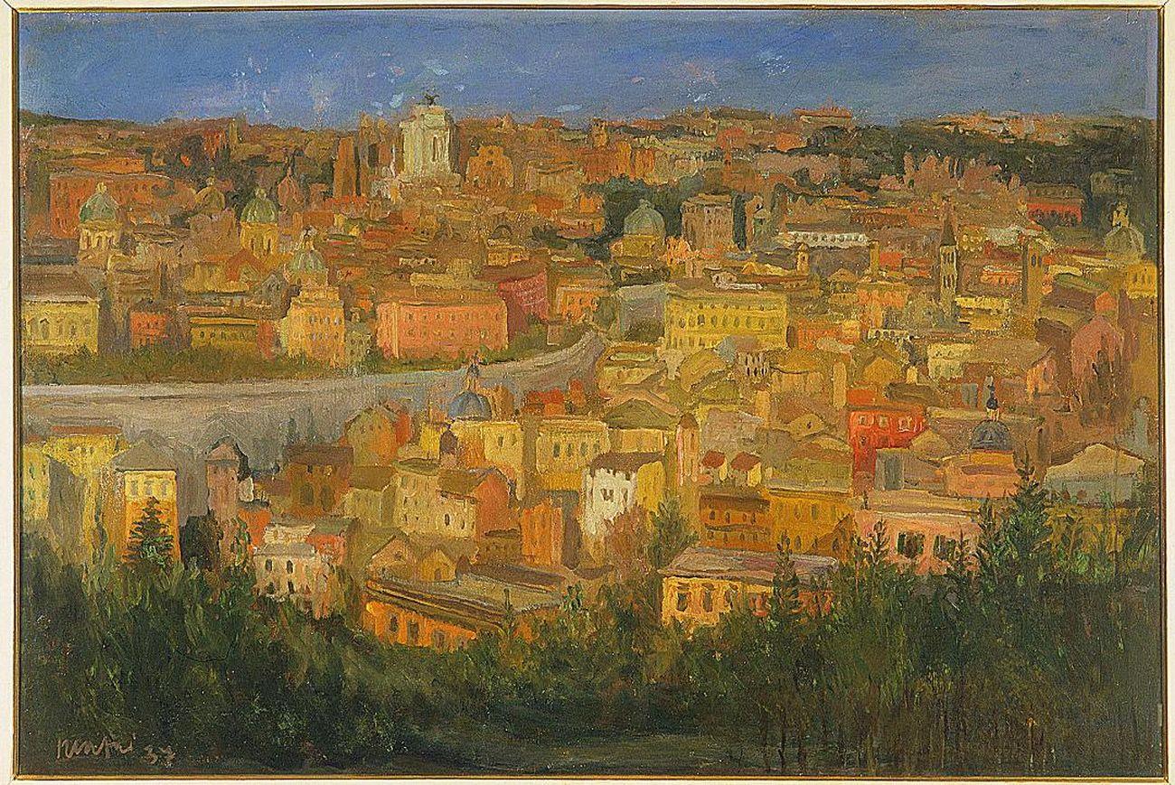 Mario Mafai, Roma dal Gianicolo, 1937. Collezione civica dono Alberto Della Ragione