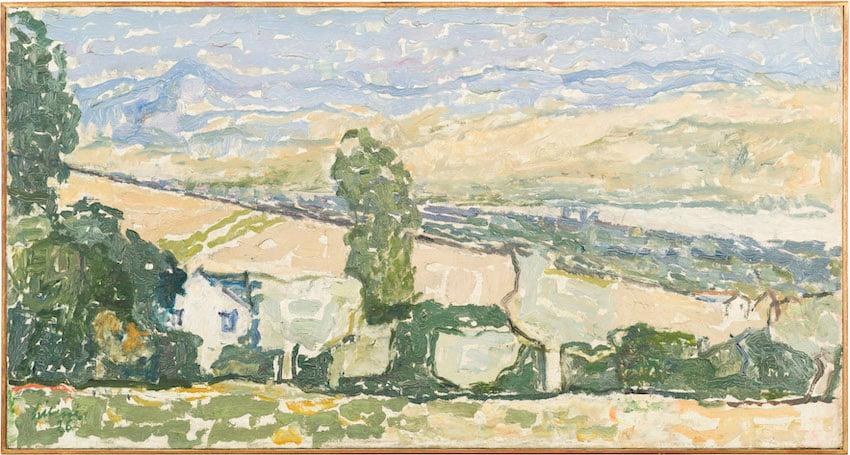 Osvaldo Licini, Paesaggio marchigiano, 1926, olio su tela, collezione privata