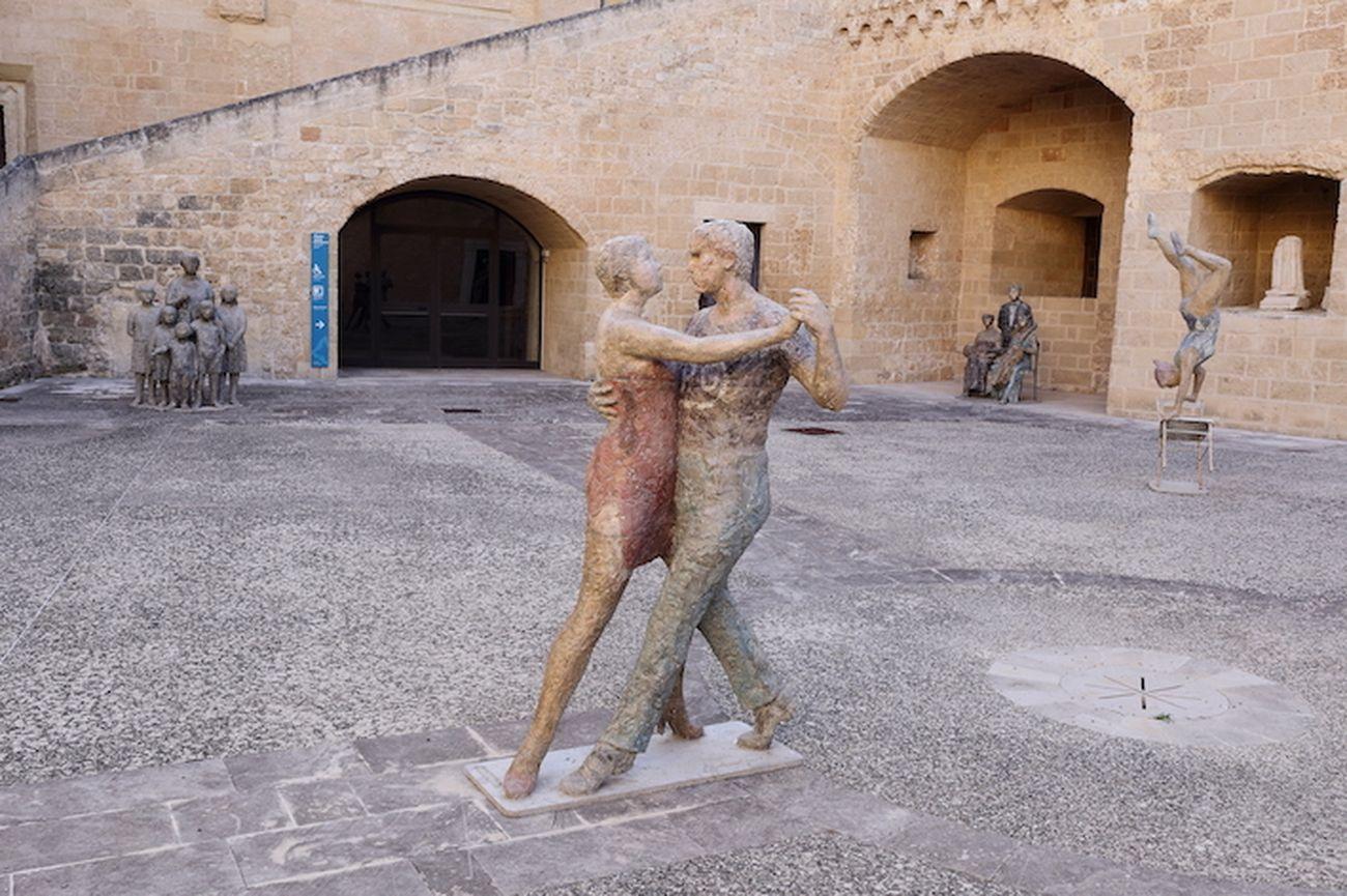 Pietro Guida. Piazze d'Italia. Exhibition view at Castello di Copertino, 2020. Photo Beppe Gernone
