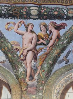 Roma, Villa Farnesina, Loggia di Amore e Psiche; Raffaello e bottega Venere a colloquio con Giunone e Cerere
