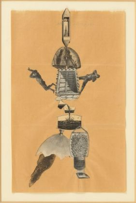 Jacqueline Lamba, André Breton, Yves Tanguy Cadavre exquis, 1938 collage on paper, The Mayor Gallery, London © VISDA 2020