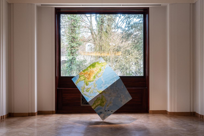 The Boghossian Foundation, Villa Empain, Bruxelles 2020, exhibition view of Mappa mundi. Work by Rudi Mantofani, photo Thibault De Schepper