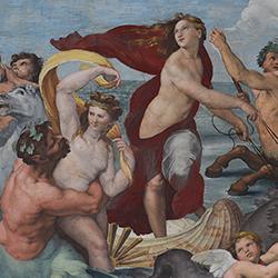 Trionfo di Galatea (particolare) di Raffaello Sanzio, ©Villa Farnesina The Triumph of Galatea by Raphael (detail) ©Villa Farnesina