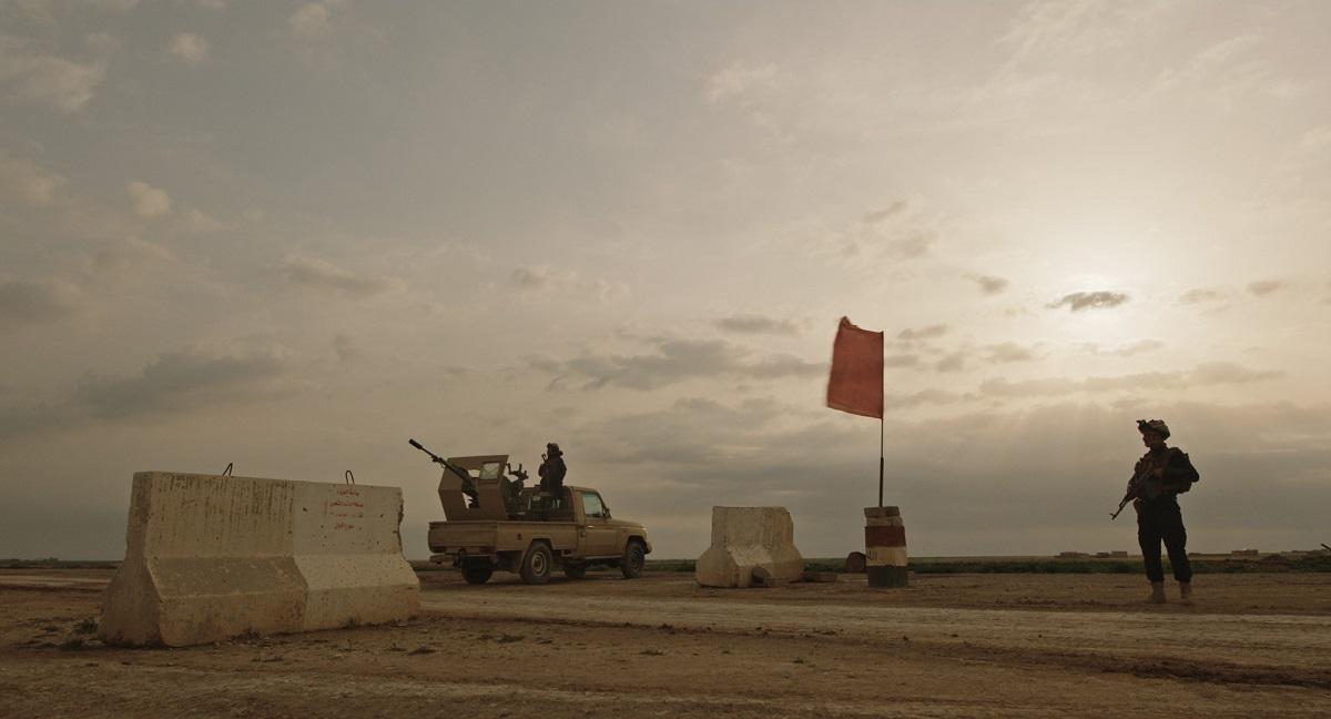 Notturno a film by Gianfranco Rosi .Check Point confine Siria Iraq