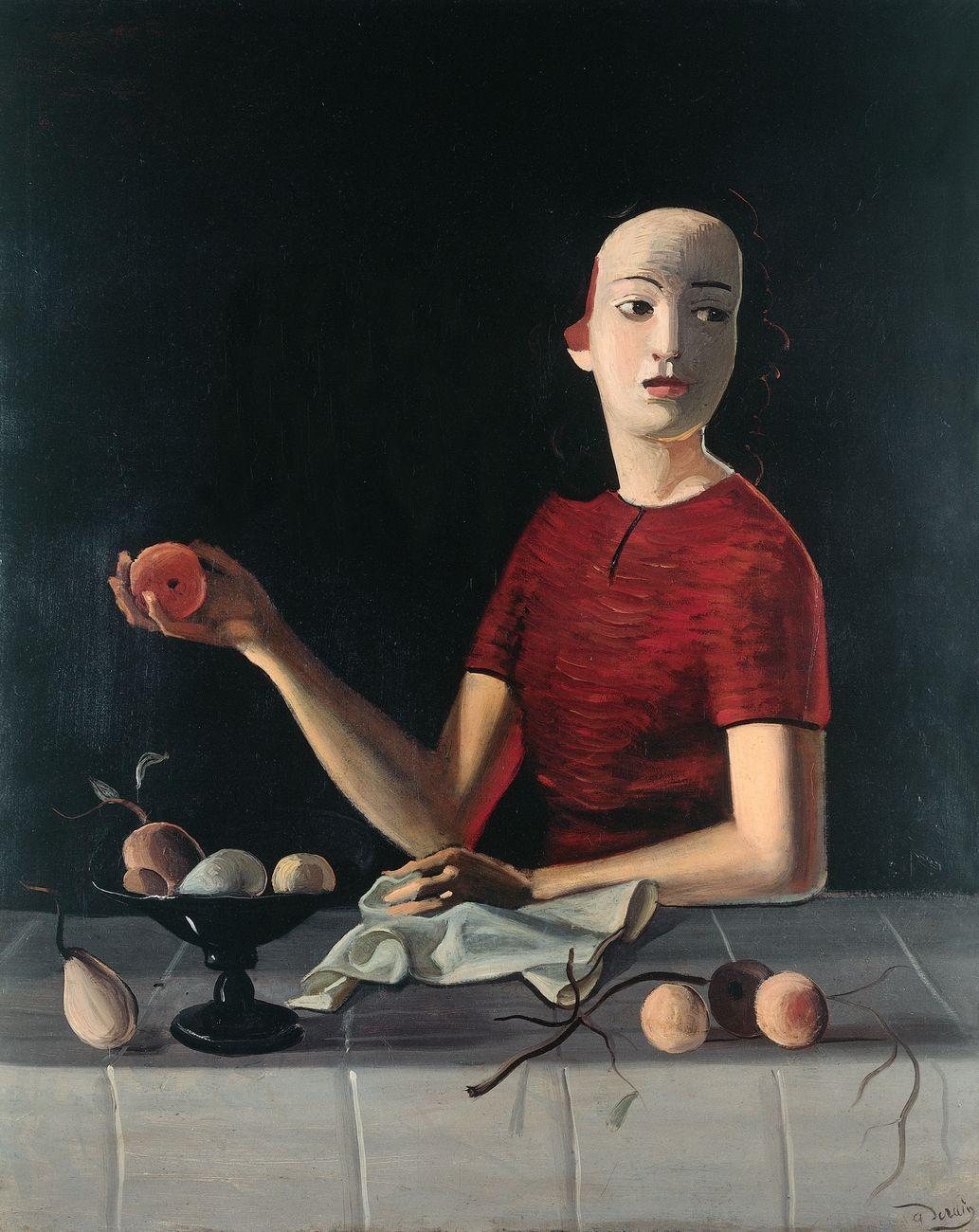 André Derain, Geneviève à la pomme, 1936 37 o 1937 38, olio su tela, 92x73 cm. Collezione Geneviève Taillade © 2020, ProLitteris, Zurich