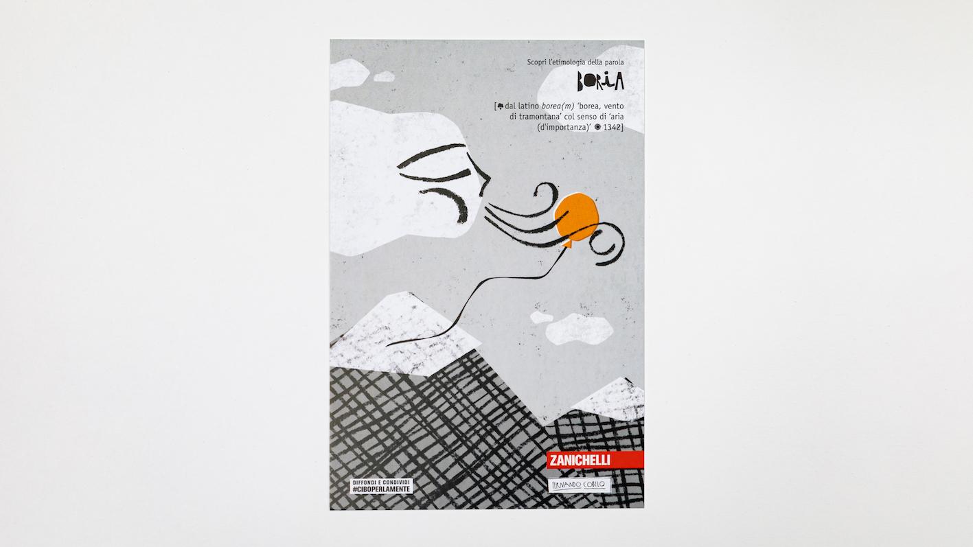 BORIA, cartolina di Fernando Cobelo per Zanichelli